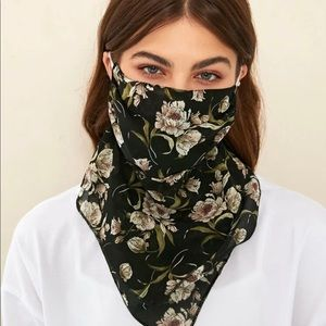 1 Piece Washable Floral Face Mouth Scarf Mask